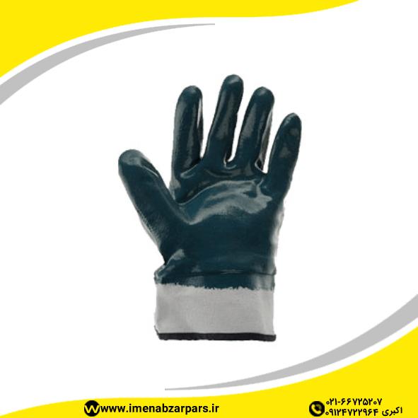 دستکش ضد مواد نفتی مچ کتان