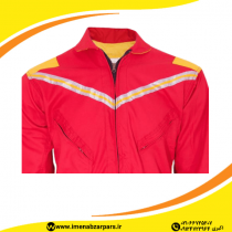لباس کار یونکس یکسره قرمز زرد